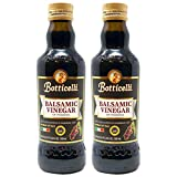 Botticelli Premium Aged Balsamic Vinegar of Modena (Pack of 2) - Gluten-Free Balsamic Vinegar for Bread Dipping & Salad Dressing - Aceto Balsamico Tradizionale Di Modena IGP - 16.9oz