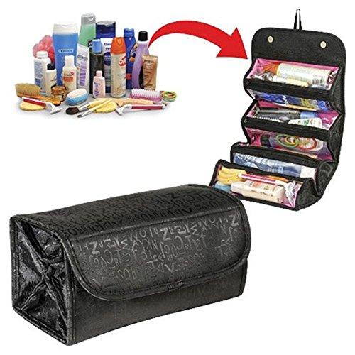 Highdas Multifunzione donne di grande capienza del Roll-up cosmetico di trucco del sacchetto Bag pieghevole pacchetto