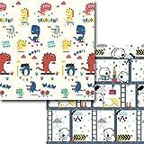 TETAKE Spielmatte Baby, Groß XXXL Krabbelmatte Baby, Doppelseitig Faltbar Krabbeldecke für Baby, wasserdichte rutschfest Spieldecke Babydecke Spielmatten mit Motiv, 200 x 180 cm