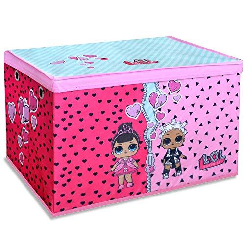 LOL Surprise Spielzeugbox Spielzeugkiste 55x37cm mit Klappdeckel