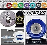Henrys Viper YoYo - Yoyó profesional con eje Axys Speed Explosion con rodamientos de precisión (incluye libro de trucos y DVD de aprendizaje y funda), color naranja