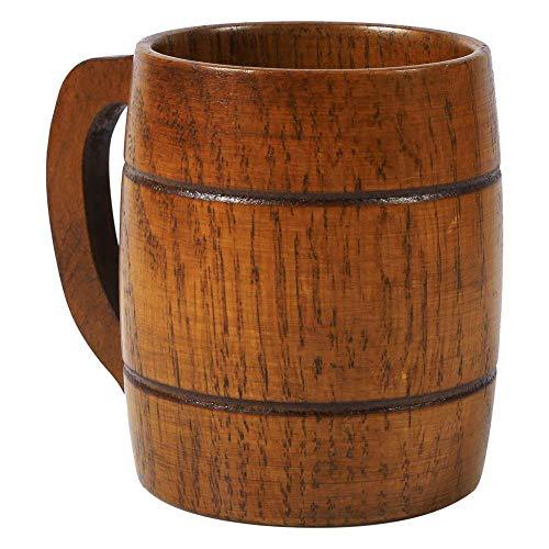 Knowooh Decoración de Jarra de Cerveza de Madera, Taza de Madera Personalizada, Cerveza Vintage, Taza de café con asa, Taza de Madera para el Festival de la Cerveza Oktoberfest