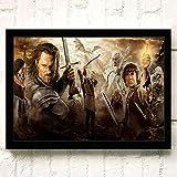 XWArtpic Creativo Classico 3D Film Anelli HD Poster Cartoon Home...