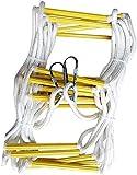 Zuoao Notleiteranlagen Rettungsseil Leiter Feuer mit hohen Intensität im Freien Rettungsrutschfest Rettungsleiter,10M
