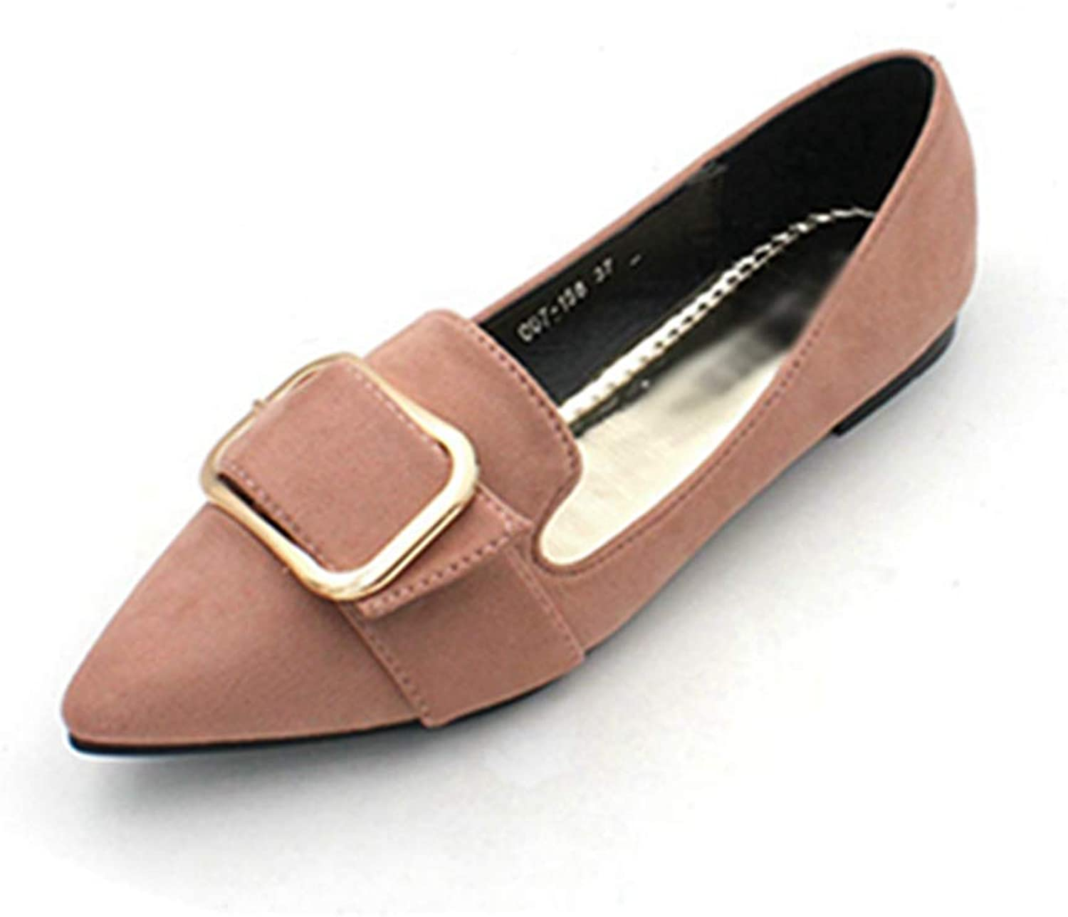 Women Flats shoes Pointed Toe Ballet Suede Lady Slip-On Comfort Dress Boat shoes