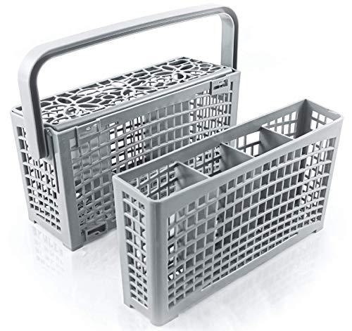 Cestello posate lavastoviglie ORIGINALE di Plemont [23x8,5 & 4,5x13,5cm] Cestello lavastoviglie con l'innovativa soluzione 2 in 1 – porta posate lavastoviglie in plastica resistente