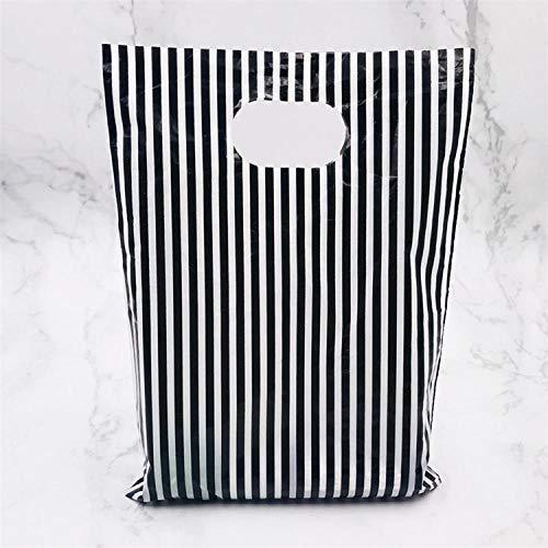 Más bolsa de plástico de joyería con asa 15x20cm Regalo de boda Tienda gruesa Regalo Embalaje de compras Bolsas de plástico con asa 50 Uds-veinticuatro