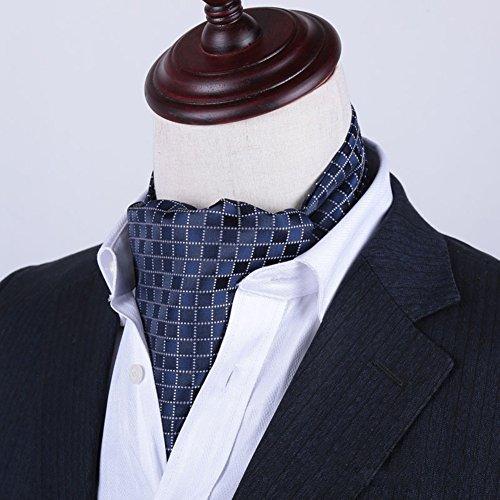 LIXIONG Cravate Tie Foulard Soie Double Face Chemise Hommes écharpe Collier de Bouche de Collier de Mode, 23 Couleurs (Couleur : #18)