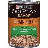 Purina Pro Plan Grain Free Pate Wet Dog Food, SAVOR Grain Free Turkey & Sweet Potato Entree - (12) 13 oz. Cans