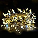 100 Lucine LED Decorative, LISOPO 3m Lucine Natalizie a USB, Impermeabile Luci Natale da Esterno/Interno, Luci Albero di Natale, Catena Luminosa Perfetto per Natale Decorazioni Casa, Feste, Matrimonio
