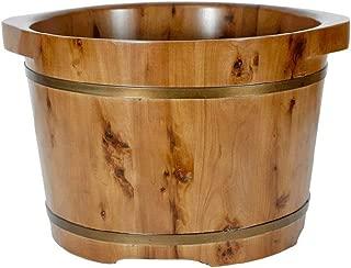 Foot Bath Tub,Foot Bath Barrel,Pedicure Bowl Spa Massage Cedar Pedicure Barrels,Health Foot Barrel,Solid Wood Foot Basin,Thicken Wooden Tub