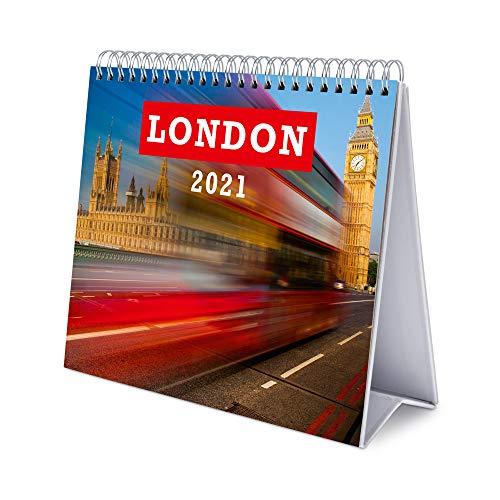 ERIK - Calendario de Escritorio 2021 Londres, 17x20 cm