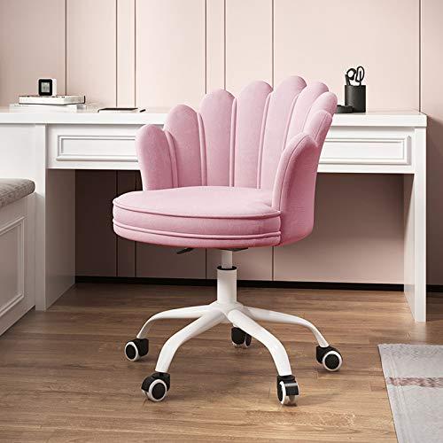 Silla de Oficina ergonómica Moderna silla de escritorio para computadora de tela de terciopelo con respaldo medio, giratoria, ajustable, acento, oficina en casa, silla de trabajo, silla ejecutiva co
