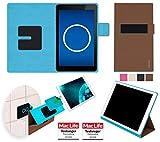 Hülle für Dell Venue 7 3741 Tasche Cover Hülle Bumper   in Braun   Testsieger