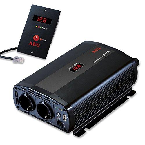 AEG 97116 Spannungswandler ST 800 Watt, 12 Volt auf 230 Volt, Fernsteuerungsmodul und Batteriewächterfunktion