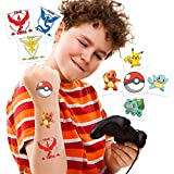Pokemonster Temporary Tattoos | Pack of 32 | MADE IN THE USA | Skin Safe | Party Supplies & Favors | Removable