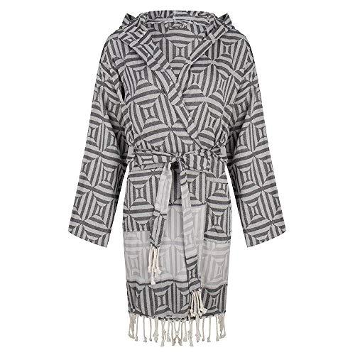 ZusenZomer Hamam badjas dames - katoen - Oeko-Tex® - Fairtrade saunamantel Kimono capuchon badjas
