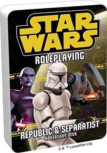 Unbekannt Star Wars RPG: Republic and Separatist Adversary Deck - English
