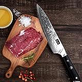 SHAN ZU Damastmesser Kochmesser 67 Schichten Damaststahl Küchenmesser mit G10 Griff 20cm - PRO Series - 2
