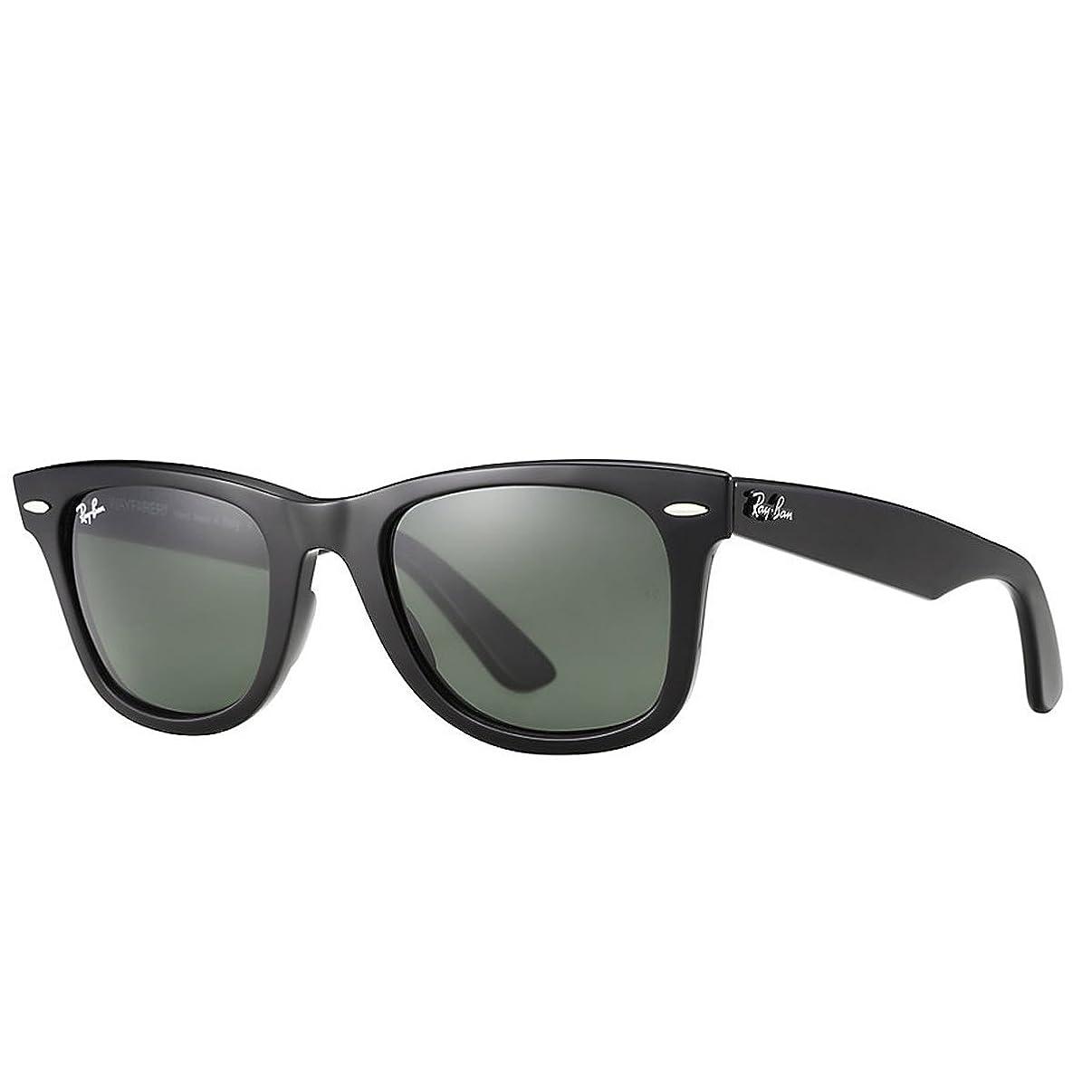 Ray-Ban, RB2140 Original Wayfarer Sunglasses, Unisex Ray-Ban Glasses, 100% UV Protection, Non-Polarized, Reduce Eye Strain, Lightweight Acetate Frame, Prescription-Ready Lenses, 54 mm Frame