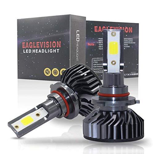 Kit de conversion d'ampoules de phare LED, sans polarité, 60 puces DOB, HID ou halogène, 6500 K Xenon blanc (lot de 2) (9006/HB4)