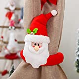 Excursion Christmas Doll Curtain Buckle, Santa Claus Curtain Tieback Window Screens Buckles Tie Back Holder Curtain Holdback Xmas for Living Room Bedroom Window Decor