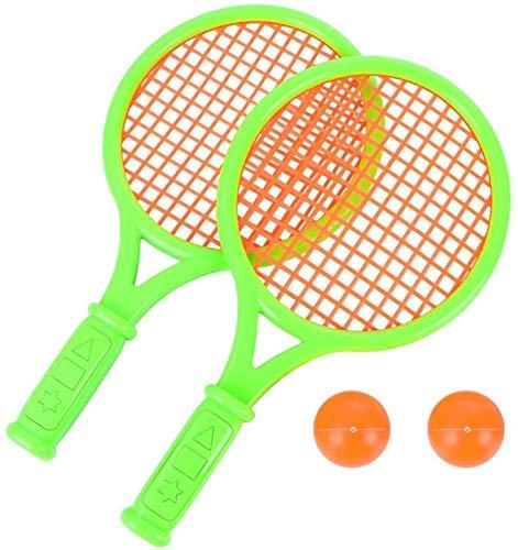 RENFEIYUAN 1 par de Raquetas de Tenis para niños niños de plástico de bádminton Raquetas Juego Props para la Escuela Primaria de Kindergarten (Tamaño S Green) Badminton Raqueta