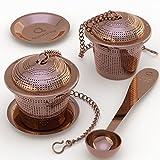 Apace Teesieb mit Teeschaufel und Abtropfschale – Ultrafeines Tee-Ei aus