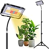 Aiboria LED Pflanzenlampen Vollspektrum 150 W, 7000 lm mit Ständer für kleine und große Zimmerpflanzenwachstum, Stehboden-Wachstumslampe für Gewächshausgärten, Verstellbarer Stativständer 49-53 Zoll