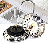 Xiangze 2 Piezas de Tapón para Fregadero de Acero Inoxidable, Colador para Fregadero de Cocina, Colador Rejilla Universal para Desagüe, para la Mayoría de Fregaderos Modernos