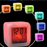 Best Children Alarm Clocks - melupa Alarm Clock for Kids, 7 Color Changing Review