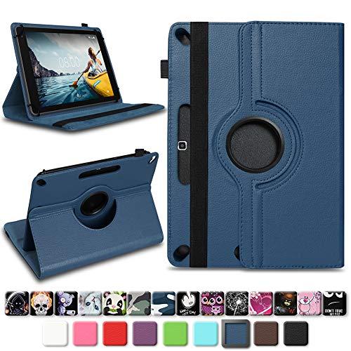 NAmobile Tablet Schutzhülle für Medion Lifetab X10311 X10302 P10400 aus Kunst-Leder Hülle Universal Tasche Standfunktion 360 Drehbar, Farben:Blau