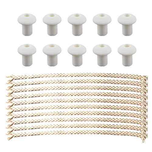Exceart 50Pcs Kit de Mechas de Lámpara de Aceite de Queroseno de Algodón Quemador Mecha de Reemplazo de Algodón Ecológico para Lámparas de Aceite Velas Uso de Tienda de Laboratorio Casero