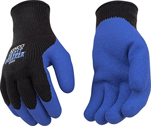 Kinco 1789 Frostbreaker Latex Form Fitting Thermal Gripping Glove, Work, Medium, Blue/Black (Pack of 6 Pairs)