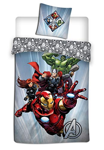 AVG Avengers - Parure de lit 1 Place - Housse de Couette