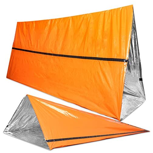 Back 40 Outfitters Emergency Tent and Emergency Bivy Sleeping Bag - Ultralight Survival Tent • 2 Person Mylar Emergency… 4