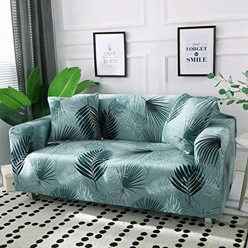 WXQY Funda de sofá con diseño de Hoja nórdica, Funda de sofá elástica para Sala de Estar, Funda de sofá Universal para Mascotas, Funda de sofá Individual para el hogar A21 1 Plaza