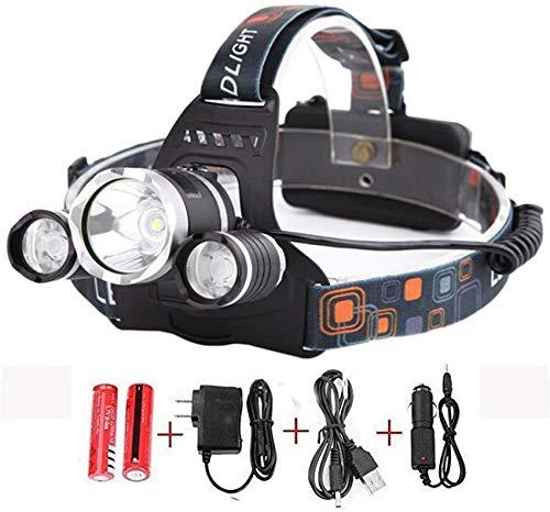 6000LM 3X XM-L T6 LED Linterna de la Linterna de la Linterna de la Cabeza de la lámpara de la antorcha