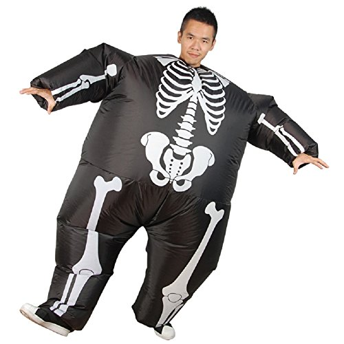 LOLANTA Disfraz Hinchable de Esqueleto de Halloween para Hombre