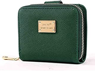 Other Green Leather Wallet For Women Id Card Holder Girls Short Coin Purse Clutches