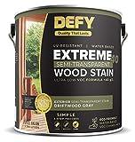 DEFY Extreme 40 Semi-Transparent Wood Deck Stain - Ultra Low VOC Formula, 1 Gallon - Driftwood Gray