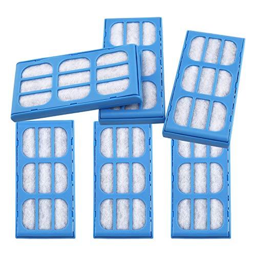 ENET 6 cartuchos de filtro de purificación de agua para fuentes Cat Mate 10,8 x 5,5 x 1,1 cm.