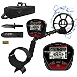 """DR.ÖTEK Lightweight Metal Detector for Adults & Kids,Professional Higher Accuracy Gold Detector with Pinpointer Function,Bigger LCD Display,Strong Memory Mode,10""""IP68 Waterproof Coil,Upgrade DSP Chip"""