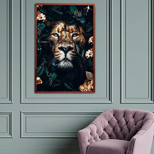 Danjiao Sztuka ścienna na płótnie, malarstwo, tygrysie zwierzę Pomyśl o zakupieniu bonów, ogromny rabat, druk plakatów do salonu, nowoczesna sztuka wystroju, 40 x 60 cm