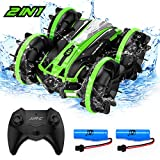 JJRC Amphibious Remote Control Car - 2.4GHz Hight Speed RC Cars & Boat, 360 ° Rolling & 180° Flip Double Sides RC Stunt Vehicle Truck with 2 Rechargeable Batteries for Boys Kids & Adults Gifts
