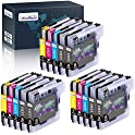 15-Pack OfficeWorld LC61 Replacement Ink Cartridge for Brother Printers