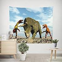 タペストリー 壁掛け 恐竜プリントタペストリービーチタオルソファブランケット多機能装飾大型ファミリーリビングルームベッドルームパーソナライズされたギフト、図のように、150X100Cm