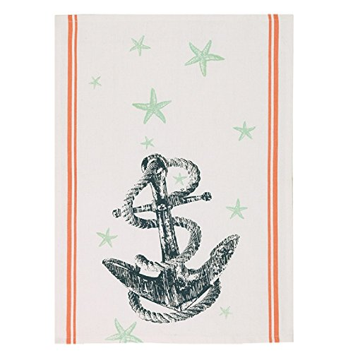 Peking Handicraft Anchor and Sea Star Kitchen Hand Towel