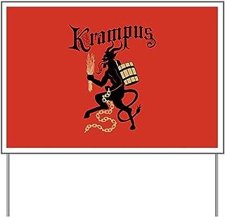 CafePress Krampus Yard Sign, Vinyl Lawn Sign, Political Election Sign