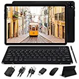 FACETEL Tablette 10.1 Pouces Android 10.0, 4 Go RAM 64 Go ROM - Certification Google GSM, Écran FHD 1920*1200, Octa Core | 8000mAh | WI-FI | Bluetooth | GPS | Type-C(5.0 8.0 MP Caméra) - Noir